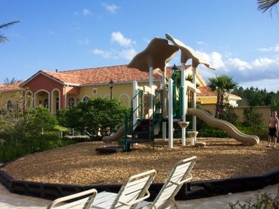 The children's play area at the resort