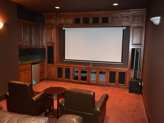 Vancouver house photo - Media room has 92' projector, surrounding sound system