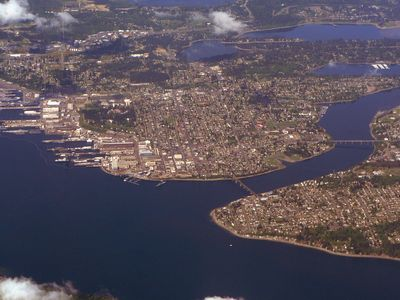 Aerial view of Bremerton