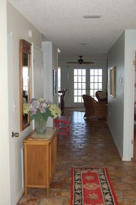 Entry hallway looking east towards ocean