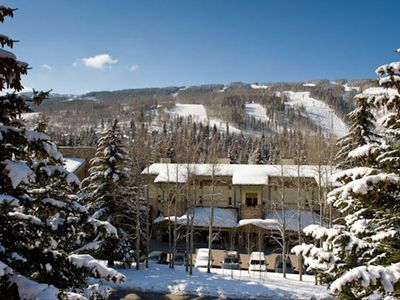 Lodge at Lionshead ideally located along Gore Creek at the base of Vail Mountain