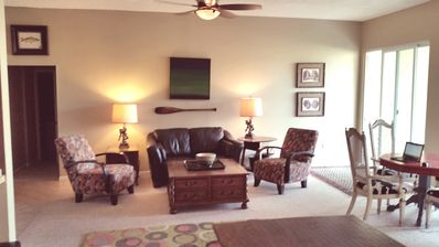 Large Living Room with Card Table and Patio/Golf Course view