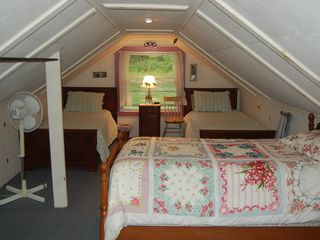 Fleetville cottage photo - second floor bedroom with three single beds.