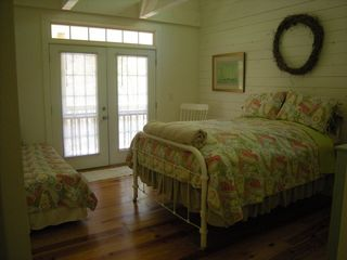 Helen cabin photo - 2nd bedroom w/antique feather padded queen bed; a twin, also has it's own bath