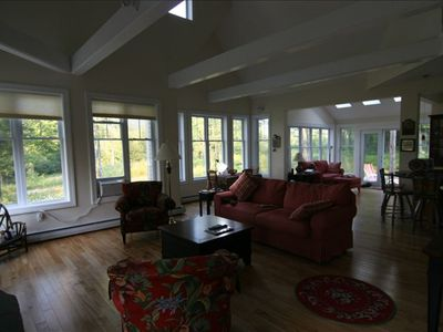 Wide open great room with loads of natural light.