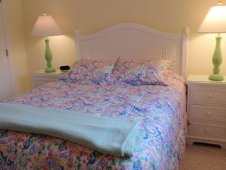 Bethany Beach townhome photo - The second bedroom has a queen sized bed and a 22 inch flat screen television.