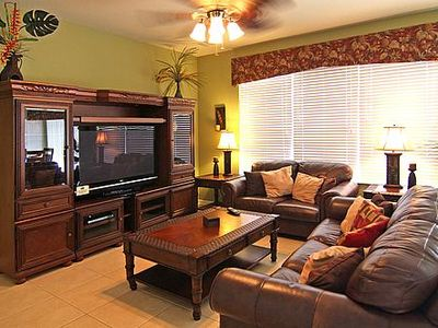 Family room with 50in LCD TV