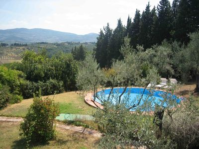 Villa in Chianti with pool set in an olive grove, 10 min. From Florence