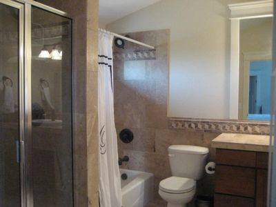Master Bathroom with full size tub and separate shower