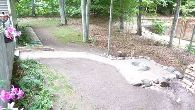 Harbor Springs house rental - Firepit area with wood for renters use.