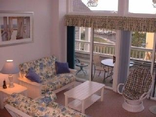 Vacation Homes in Ocean City condo photo - Bright Living room w/ Cathedral Ceilings