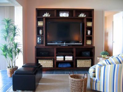 Sanibel Island condo rental - 46' Sony HDTV, DVD, and Entertainment Center