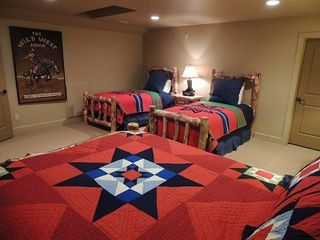 Eden house photo - The Wild West Bunk Room with queen bed and two twins. HUGE!