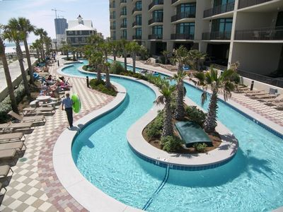 The only beach-side Lazy river in Orange Beach! Perfect entertainment for all.