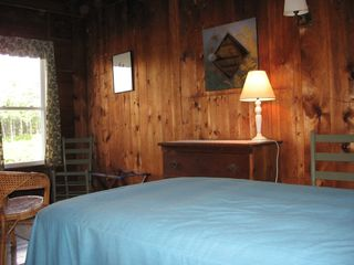Bayville cottage photo - Two twin bedroom with view of ocean bay