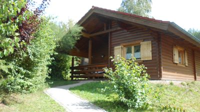 Non smoking log cabin in holiday village for families with children u. Dog
