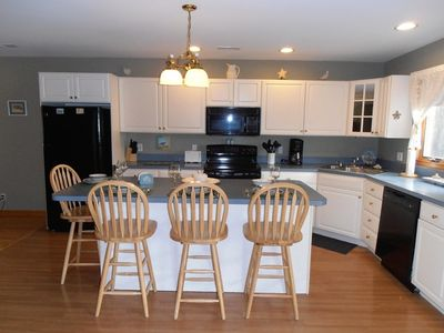 Cape May house rental - Kitchen with new refridgerator