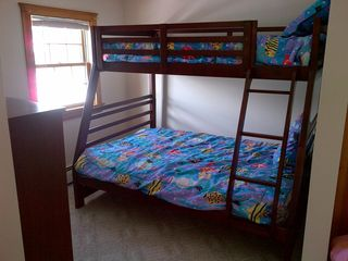 Saco house photo - Bedroom #3. Full on bottom; twin on top