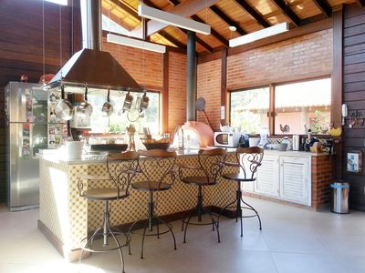 A beautiful house next to nature, 3 bedrooms, mezzanine, swimming pool, gated community