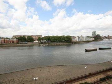 View over the Thames from the balcony