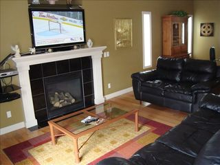 Calgary house photo - Calgary Vacation Home 50 inch plasma HD TV, full cable, WIFI, Gas Fireplace