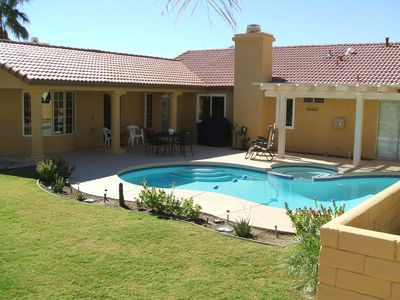 Your own pool and spa nestled into the Desert Hills of Mission Lakes.