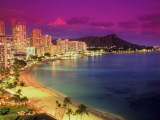 Waikiki condo photo - Beautiful Waikiki at night