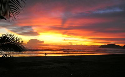 Jaco villa rental - Typical sunset