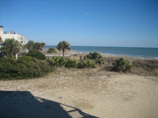 Surfside Beach condo photo - Ocean view from dining room and kitchen