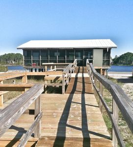 Beach side of Allen's Dune.  This picture shows our two new sunset decks!