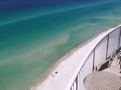 Spectacular views of the beach in both directions and Gulf, lots of marine life