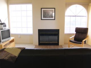 Tucson condo photo - Natural wood-burning fireplace and great views from the living room