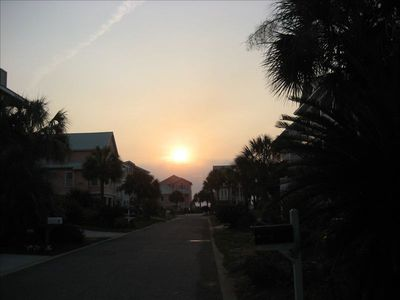 View of sunrise