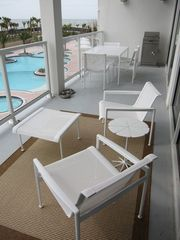 Galveston condo photo - Balcony furniture