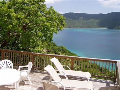 Northside villa rental - Multiple Decks with Magens beach and island views.