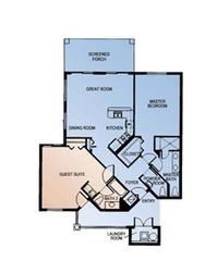 Port St. Lucie condo photo - Floor plan of villa & guest suite