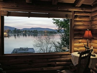 Sit in the rocking chair by the picture window and take in the lake view.