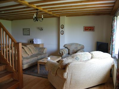 living area in four bedroom cottage