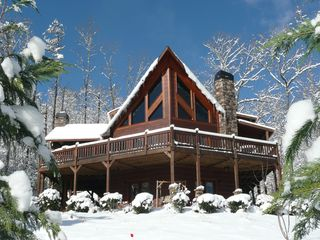 Blue Ridge cabin photo - A winter wonderland when it snows!