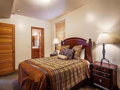 Queen bedroom with huge built-in closets and en-suite bathroom