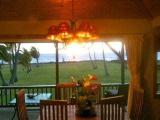 Kihei house photo - Your Table Awaits..Dining Rm.Table. See Whales & Sunsets While Dining!