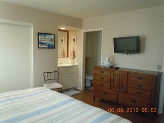 Del Mar condo photo - master bedroom showing TV and bathroom