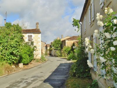 In a typical village in the heart of the Marais Poitevin, riverside