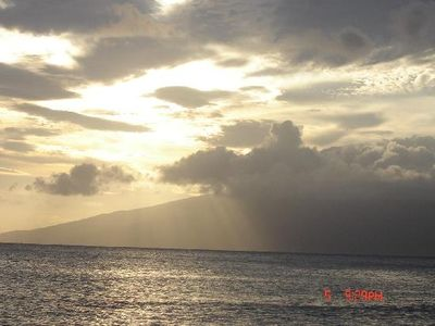 Sunset with Molokai in the background