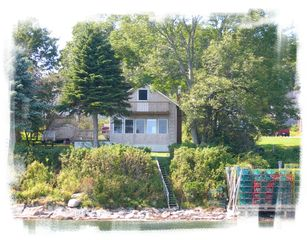 Harpswell cottage photo - View from the water before the wharf