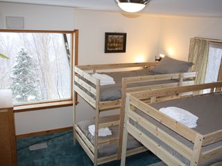 Killington house photo - Bedroom #4 - two bunk beds (4 singles)