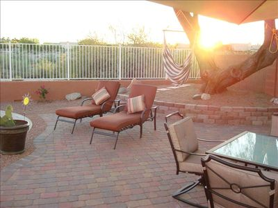 Goodyear house rental - .A beautiful Morning on our back patio...