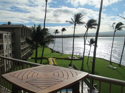 Watch the whales from the lanai who give birth in Maalaea bay!