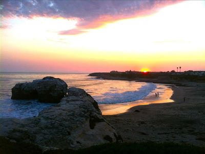 Natural Bridges Beach is 1 1/2 blocks from the beach house.  Surf & sunsets!