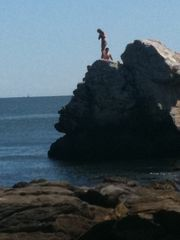 Bonnet Shores house photo - Take the plunge at The Point from this rock. Always fun for young and old alike